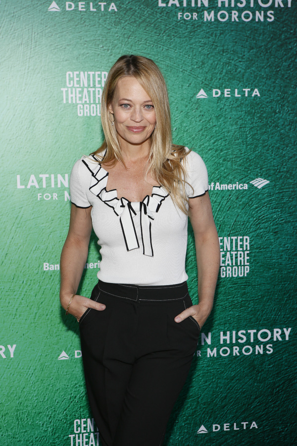 """Jeri Ryan attends the opening night performance of �""""Latin History for Morons"""" at Center Theatre Group/Ahmanson Theatre on Sept. 8, 2019, in Los Angeles, California. (Photo by Ryan Miller/Capture Imaging)"""