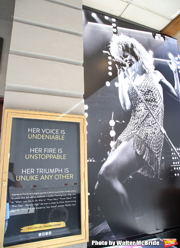 "Theatre Marquee unveiling for ""Tina: The Tina Turner Musical"" starring Adrienne Warren and Daniel J. Watts on September 11, 2019 at the Lunt-Fontanne Theatre in New York City."