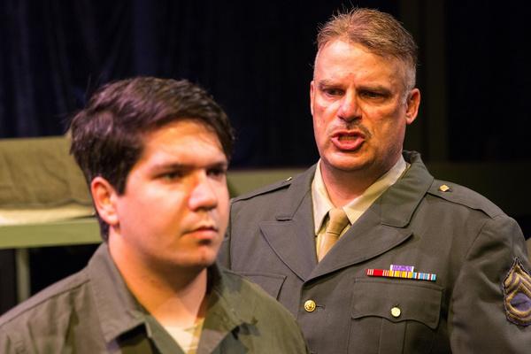 Aaron Mohs-Hale (Carney) And John Munn (Sgt. Toomey)