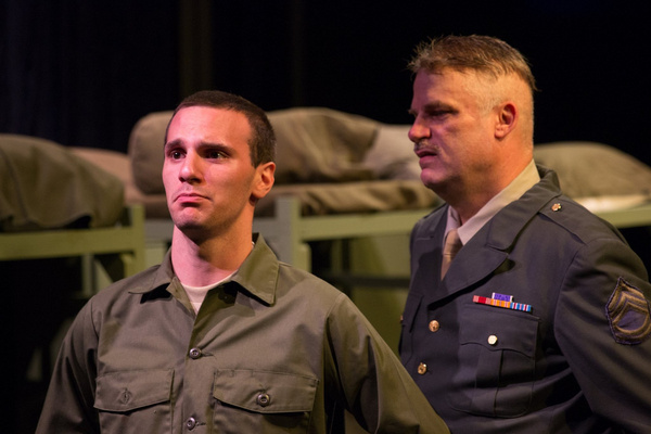 Travis Martinez (Seldridge) And John Munn (Sgt. Toomey)