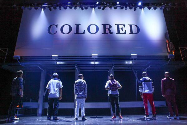 """The cast of """"Thoughts of a Colored Man"""" in the world premiere at Syracuse Stage. Sept Photo"""