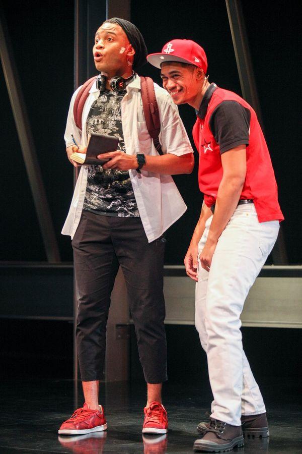"Ryan Jamaal Swain (Love) and Reynaldo Piniella (Lust) in the world premiere of ""Thoug Photo"