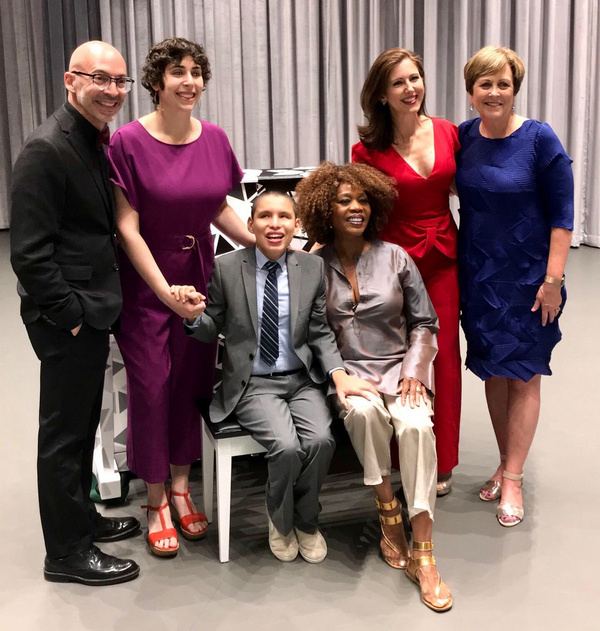 L-R: Kennedy Center SVP of Education Mario Rossero, Kennedy Center SFH Piano Artist Jordann Wine, pianist Jos  Andr  Monta o, Emmy-winning actress and activist Alfre Woodard, Sing for Hope Co-Founder