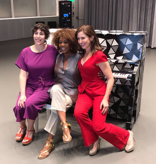 L-R: Kennedy Center SFH Piano Artist Jordann Wine, Emmy-winning actress and activist Alfre Woodard, and Sing for Hope Co-Founder Camille Zamora