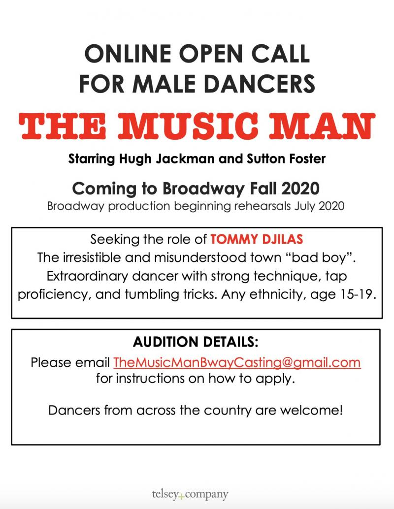 THE MUSIC MAN Is Accepting Online Submissions to Find Tommy Djilas