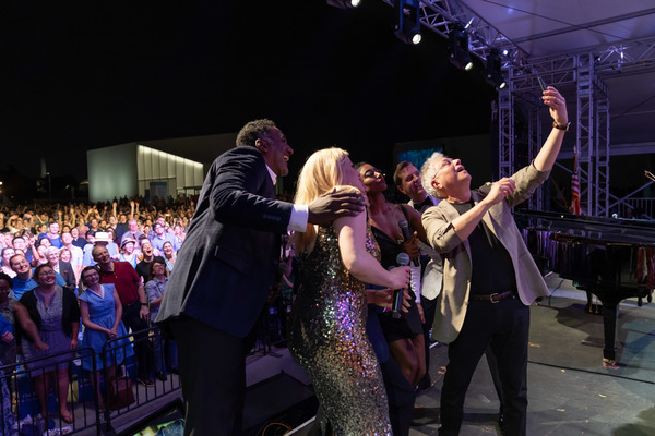 Norm Lewis, Megan Hilty, Patina Miller, Steven Reineke, Alan Menken Photo