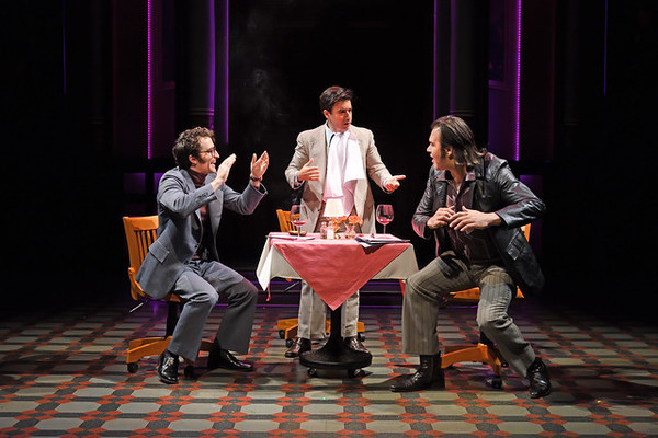 "Charlie Thurston as Herb DeSimone (left), Scott Aiello as Vincent A. �""Buddy"" Cianci, and Erick Betancourt as Mickey Corrente"