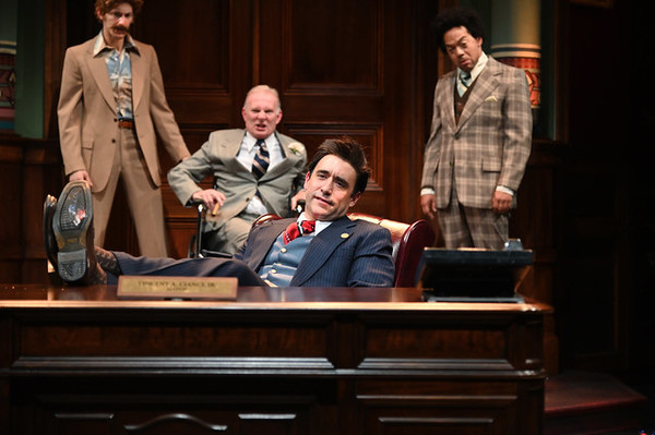 "Nick Vicinanzo (left) as Snack McManus, Brian McEleney as Larry McGarry, Scott Aiello as Vincent A. �""Buddy Cianci, and Joe Wilson, Jr. as Lloyd Griffin"