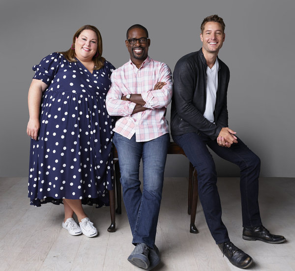 Chrissy Metz as Kate Pearson, Sterling K. Brown as Randall Pearson,  Justin Hartley as Kevin Pearson
