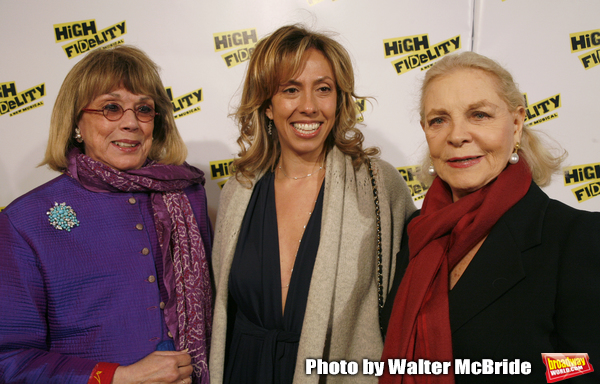 Phyllis Newman with her daughter Amanda Green (Lyrics) & Lauren Bacall.attending the Opening Night Performance of the New Broadway Musical HIGH FIDELITY at the Imperial Theatre in New York City..December 7, 2006.