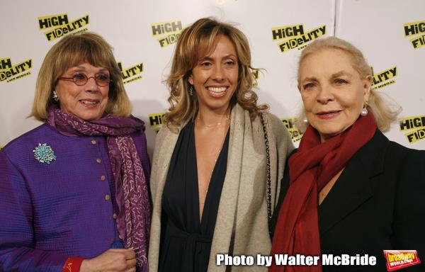 Phyllis Newman with her daughter Amanda Green (Lyrics) & Lauren Bacall.attending the  Photo