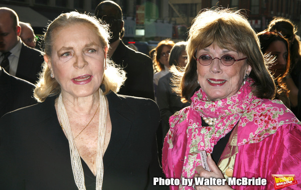 Lauren Bacall & Phyllis Newman arriving for the Opening Night Performance of LOVEMUSI Photo