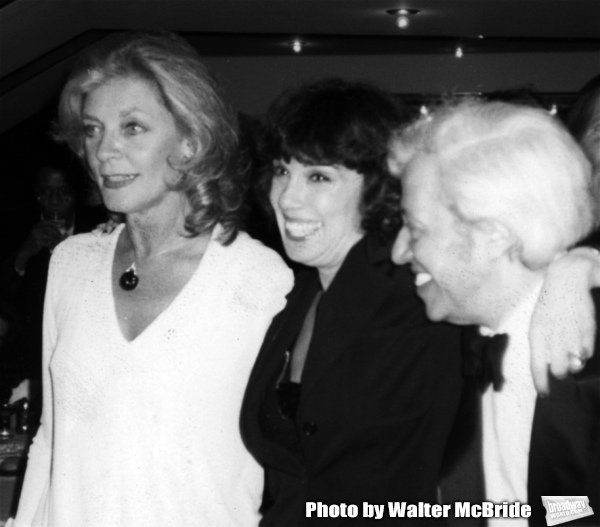 Lauren Bacall, Phyllis Newman and Adolf Green attend the Opening night performance of Photo