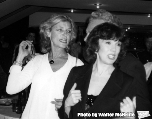 Lauren Bacall and Phyllis Newman attend the Opening night performance of 'West Side Story'  in New York City, February 14, 1980.