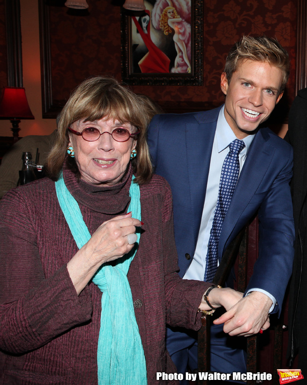 Phyllis Newman, Hunter Ryan Herdlicka attending a reception celebrating Hunter's 54 B Photo