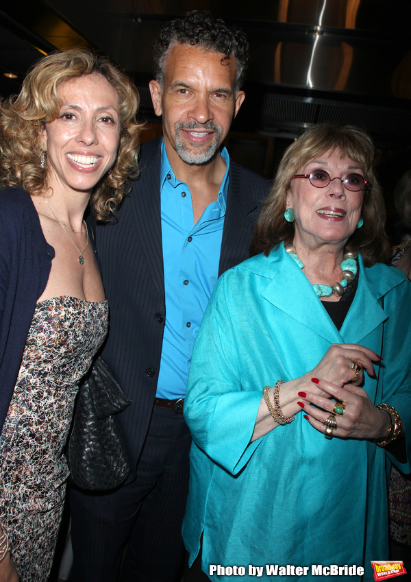 Amanda Green, Brian Stokes Mitchell & Phyllis Newman attending the NOTHING LIKE A DAME Benfit Evening at the World Stages in New York City. June 15, 2009
