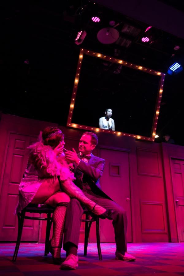 Samantha LaMendola as Sally and Michael Schaner as Clifford Richard Demaso as EmCee
