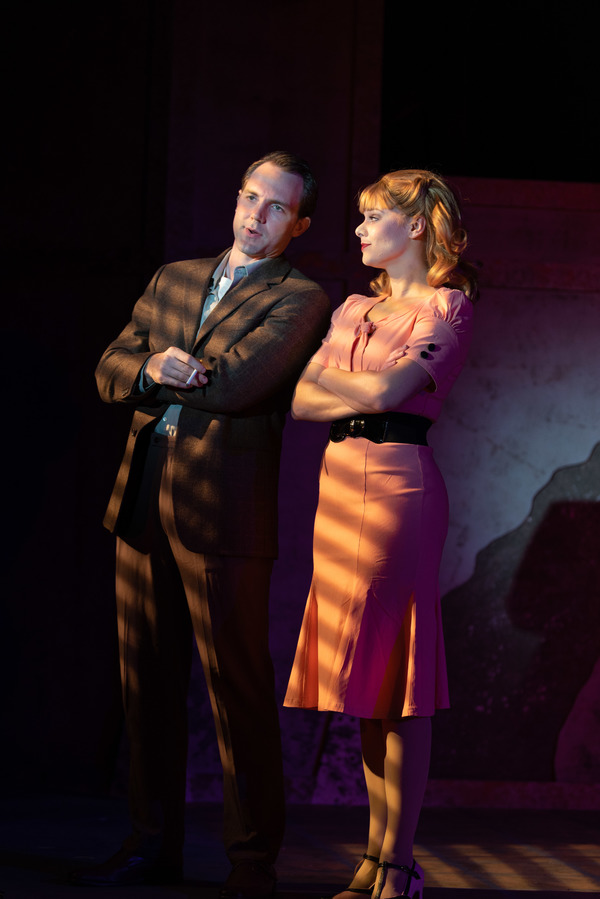 Bryant Martin (Joe Gillis) and Sarah Quinn Taylor (Betty Schaeffer)