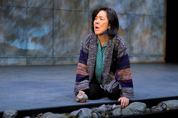 Sharon Omi (Etsuko) in the American premiere of The Great Wave at Berkeley Rep, direc Photo