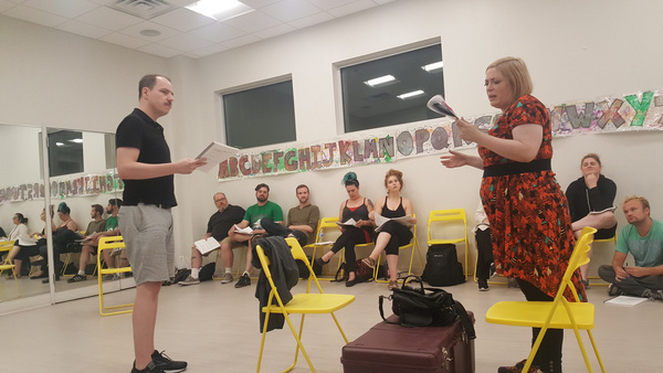 Photo Flash: Rehearsals Underway For Cowardly Scarecrow's CABARET Opening In October