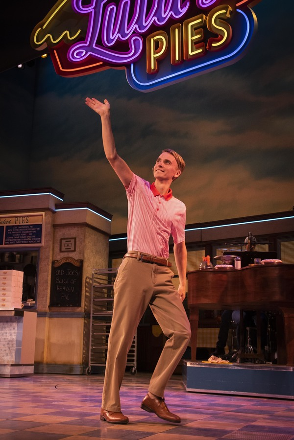 Joe Sugg on stage in Waitress at the Adelphi Theatre London. PRESS ASSOCIATION Photo. Picture date: Monday 16th September 2019. Photo credit should read: David Jensen/PA Wire