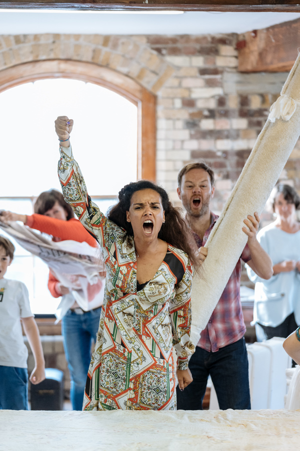 Photo Flash: Inside Rehearsal For THE WATSONS at Menier