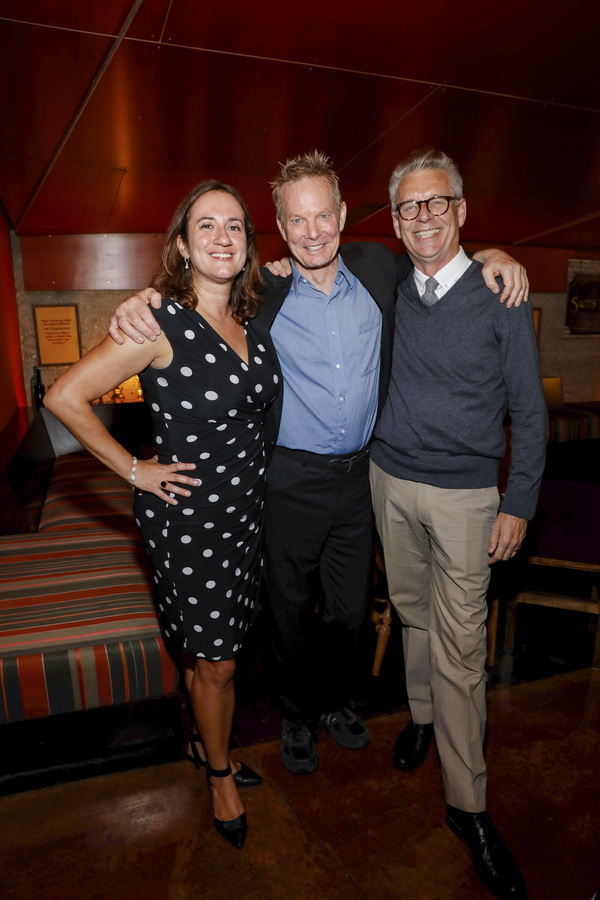 Center Theatre Group Managing Director/CEO Meghan Pressman, creator/performer Bill Irwin and Center Theatre Group Artistic Director Michael Ritchie