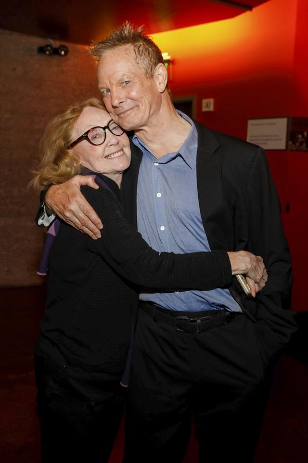 Irish Repertory Theatre co-founder Charlotte Moore and Bill Irwin  Photo