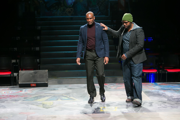 Marcus Jordan as Benny and Temar Underwood as Tom Collins in Redhouse's production of Photo