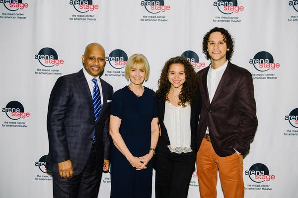 Ruben Santiago-Hudson, Jeannie Santiago Lily Hudson, Lily Hudson and Trey Hudson Photo