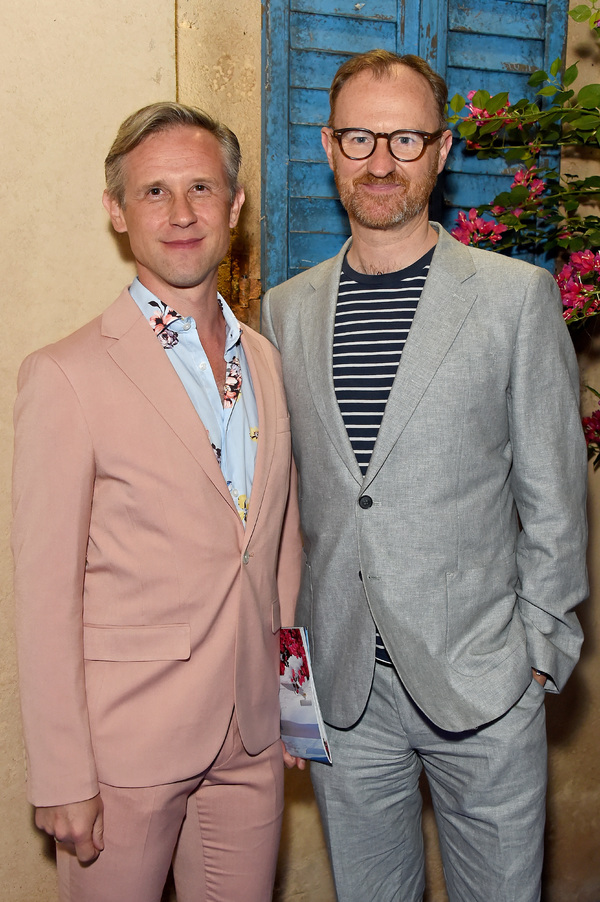 Ian Hallard and Mark Gatiss attend the opening night of MAMMA MIA! The Party Photo