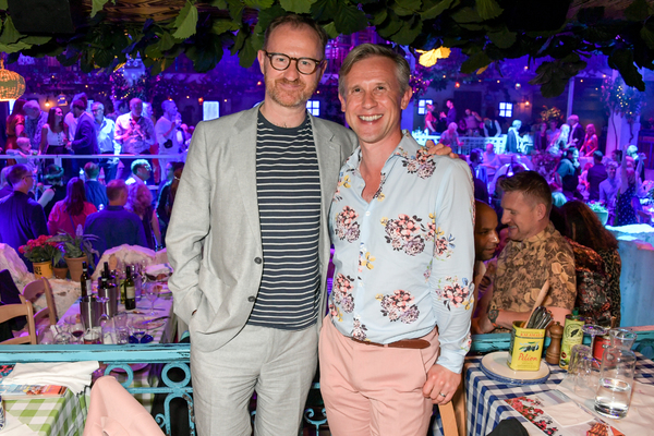Mark Gatiss and Ian Hallard attend the opening night of MAMMA MIA! The Party Photo