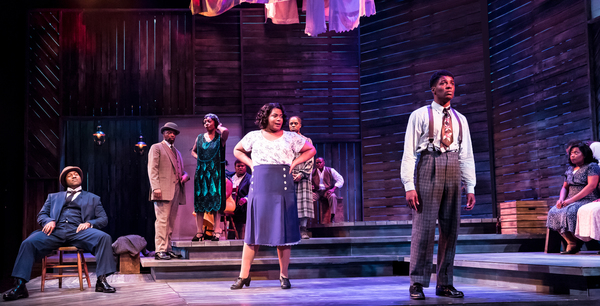 Nicole Michelle Haskins, Gilbert Domally, and the cast of The Color Purple