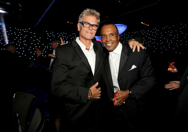 Harry Hamlin and Sugar Ray Leonard Photo