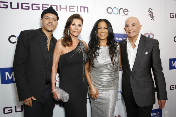 Evan Ross, Linell Shapiro,  Sheila E., and Robert Shapiro Photo