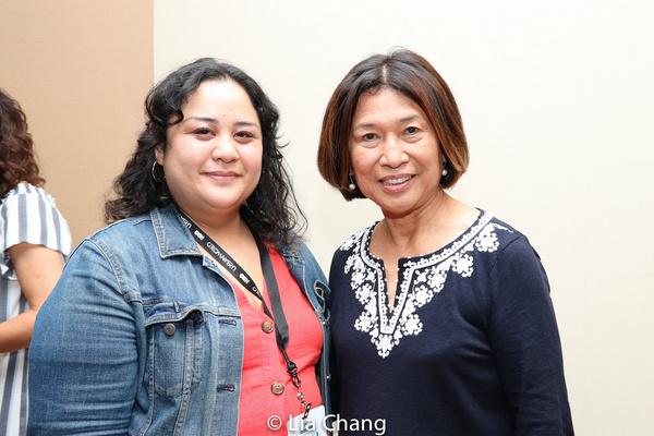 Lead Producer Cecilia R. Mejia and Loida Nicolas Lewis. Photo by Lia Chang Photo