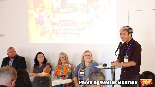 Eric Lapointe (Prolific 1), Rae Anne McLaughlin (TriTix & Kids in Seats), Bonnie Comley (BroadwayHD), Ann Lademann (Kids in Seats) and  Sean Tecson (Roundabout Theatre Group)