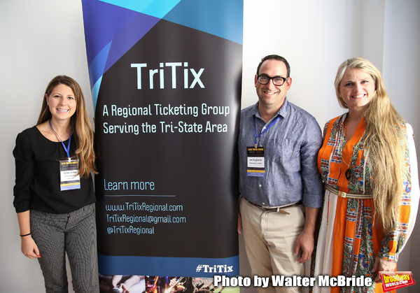Sarah Hutton (TriTix Leadership and Ticketmaster), Joe Gugliemo (AudienceView) and Bo Photo