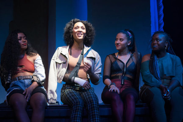 Brittany Campbell, Mj Rodriguez, Cheyenne Isabel Wells and Tickwanya Jones in Little Shop of Horrors.