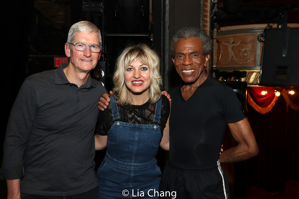 Apple''s CEO Tim Cook, Anais Mitchell and Andre De Shields  Photo
