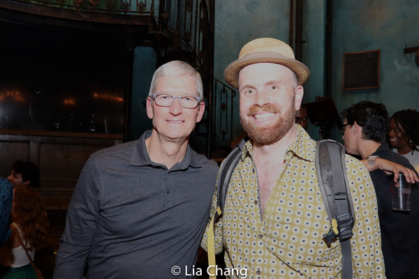 Apple''s CEO Tim Cook and Liam Robinson
