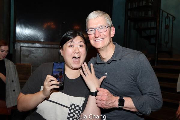 Photo Flash: Apple CEO Tim Cook Goes Way Down To HADESTOWN