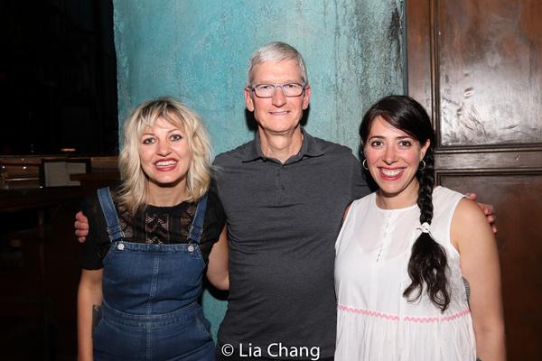 Anais Mitchell, Apple''s CEO Tim Cook and Rachel Chavkin