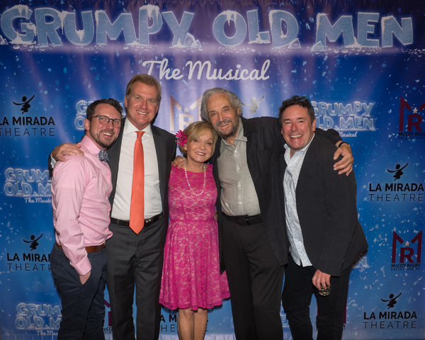 Associate Director Anthony C. Daniel, Tom McCoy, Cathy Rigby, Hal Linden, and Director Matt Lenz