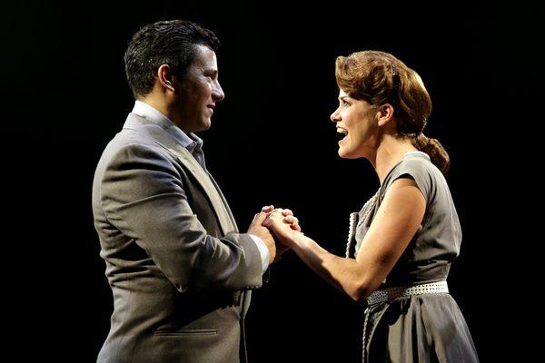 Nicholas Rodriguez (Joe Gillis) and Lizzie Klemperer (Betty Schaefer) in SUNSET BOULE Photo