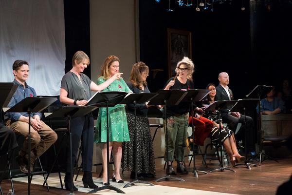 Chris Stack, Cynthia Nixon, Ana Gasteyer, Kathy Najimy, Jenn Lyon, Carmen Zilles and  Photo