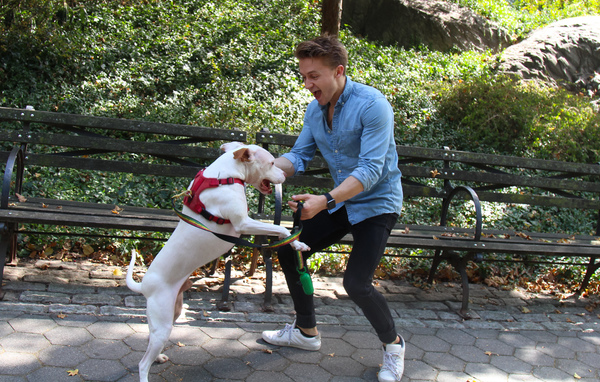 Tails of Broadway: WICKED's Riley Costello Plays Around with Ryder!