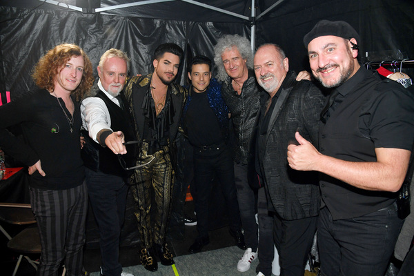 Roger Taylor, Adam Lambert, Rami Malek, and Brian May