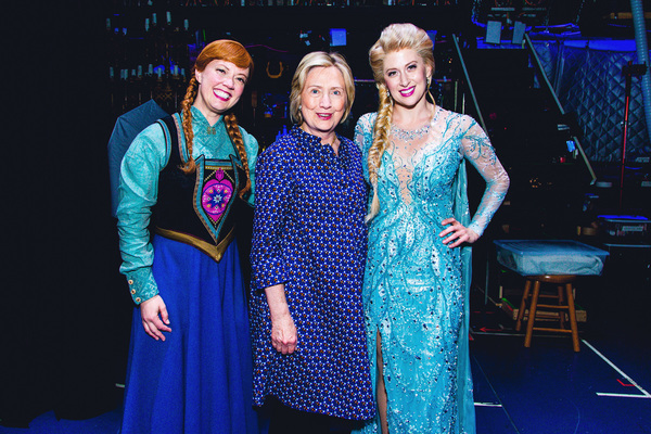 Photo Flash: Hillary Clinton Visits FROZEN on Broadway