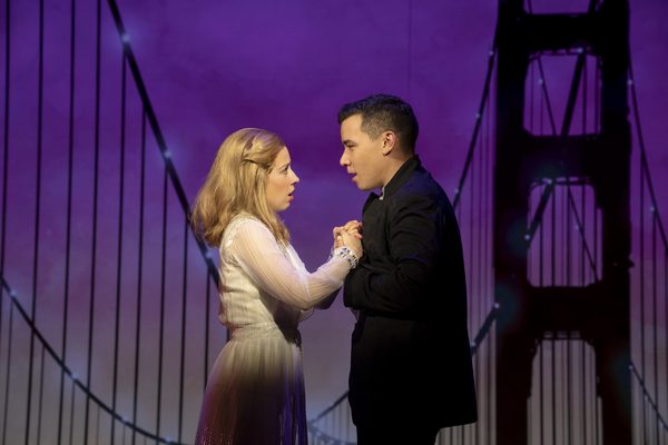 Conrad Ricamora and Alyse Alan Louis. Photo Credit: Joan Marcus